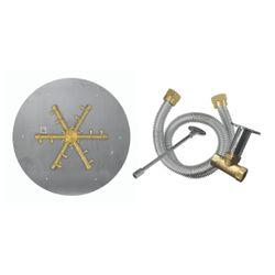 """Firegear Pro Series 29"""" Round Flat Brass Burner- Match Lit"""