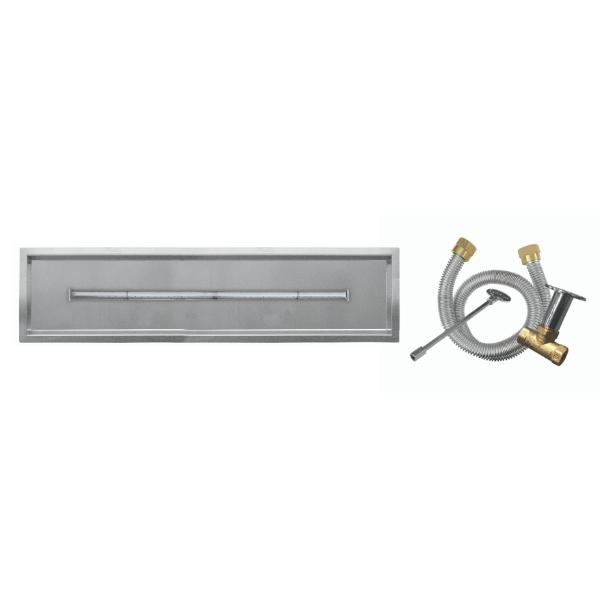 "Firegear 30""x6"" SS Drop-In T-Burner System - Match Lit image number 0"
