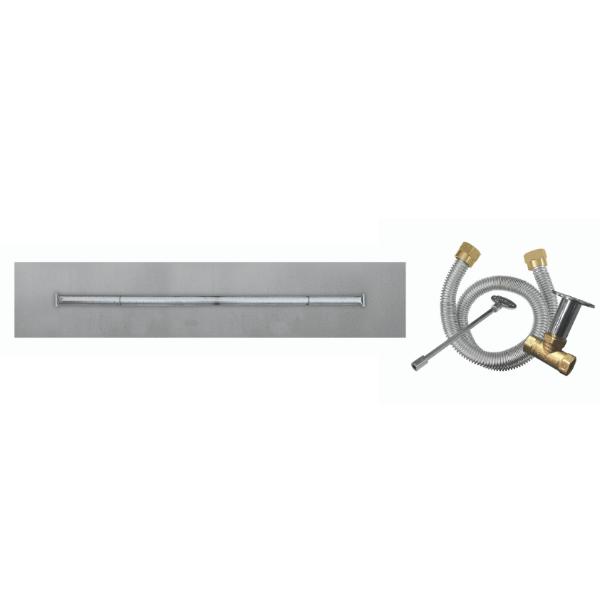 "Firegear 96""x8"" SS Flat T-Burner System - Match Lit image number 0"