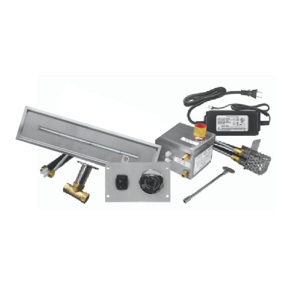 """Firegear 72""""x6"""" SS Drop-In T-Burner System - Electronic image number 0"""