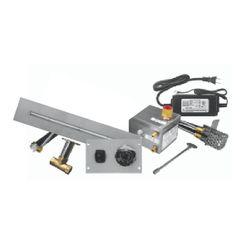"Firegear 48""x8"" SS Flat T-Burner System - Electronic"