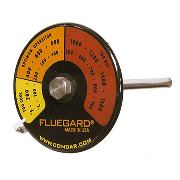 FlueGard Stovepipe Probe Thermometer with Temperature Zones image number 0