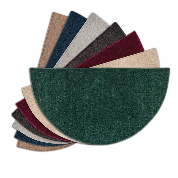 Flame Half Round Polyester Fireplace Hearth Rugs - 4' image number 0