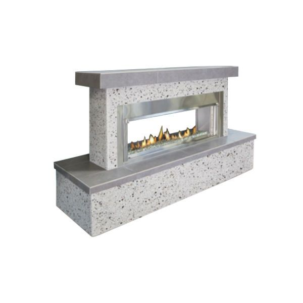 Flamecraft Contemporary See Through Outdoor Fireplace Lp Woodland Direct