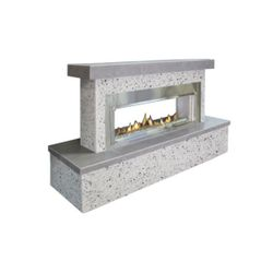 FlameCraft Contemporary See Through Outdoor Fireplace - LP