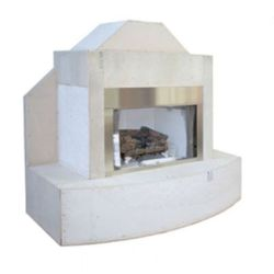 FlameCraft Ready To Finish Traditional Outdoor Gas Fireplace