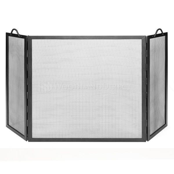 """Graphite Powdercoat Flat Twisted Rope Folding Screen - 53"""" x 36"""" image number 0"""