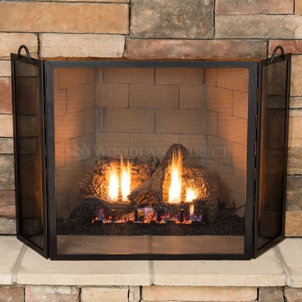 """Flat Twisted Rope Three-Part Fireplace Screen - 52"""" image number 2"""