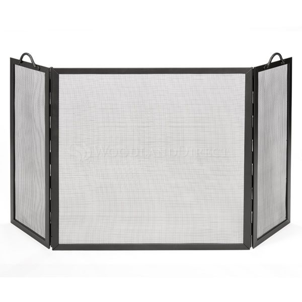 "Flat Twisted Rope Three-Part Fireplace Screen - 52"" image number 0"