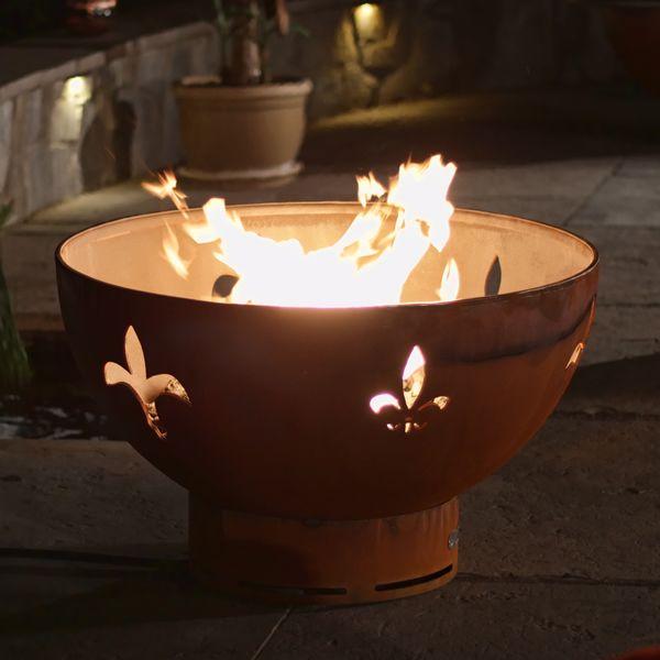 Fleur De Lis Gas Fire Pit image number 0