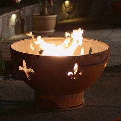 Fleur De Lis Gas Fire Pit