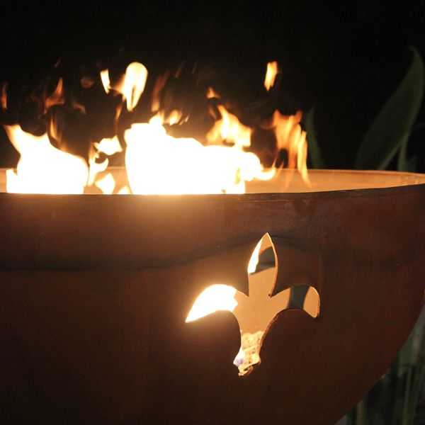 Fleur De Lis Gas Fire Pit image number 1