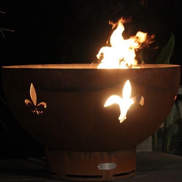 Fleur De Lis Gas Fire Pit image number 2