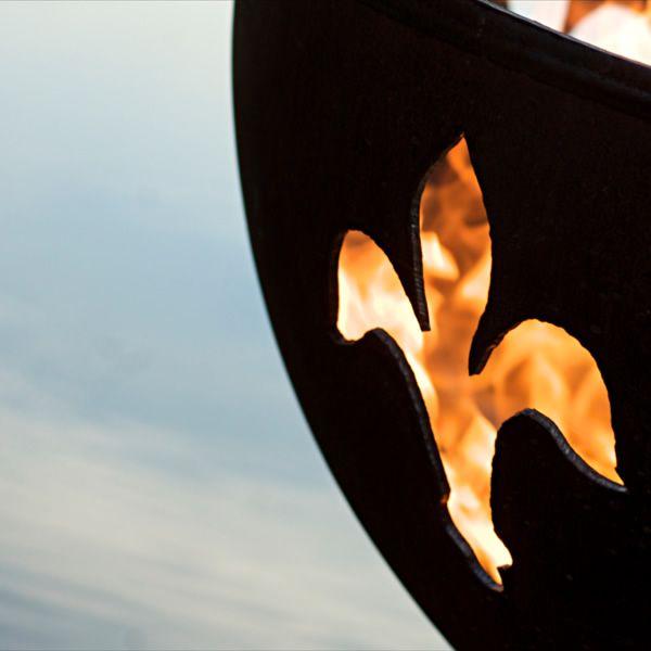 Fleur De Lis Wood Burning Fire Pit image number 2