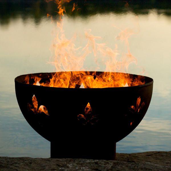 Fleur De Lis Wood Burning Fire Pit image number 5