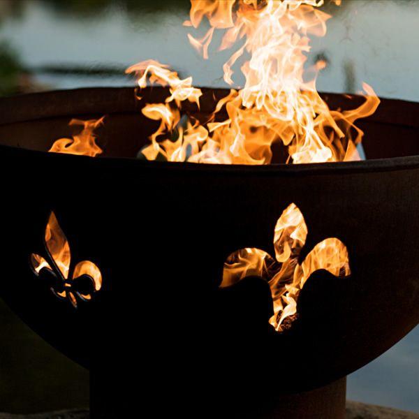 Fleur De Lis Wood Burning Fire Pit image number 6