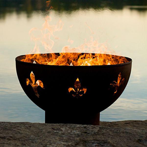 Fleur De Lis Wood Burning Fire Pit image number 0