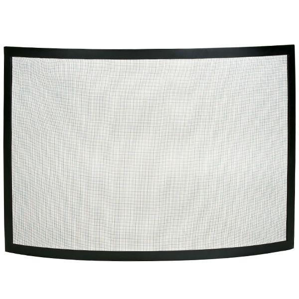 "Framed Black Bowed Single Panel Fireplace Screen - 40"" x 31"" image number 0"