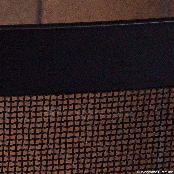 "Framed Black Bowed Single Panel Fireplace Screen - 40"" x 31"" image number 3"