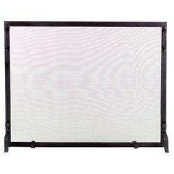 "Framed Black Wrought Iron Single Panel Screen - 44"" x 34"""