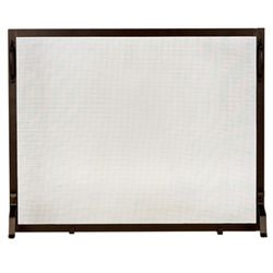"Framed Bronze Wrought Iron Single Panel Screen - 44"" x 33"""