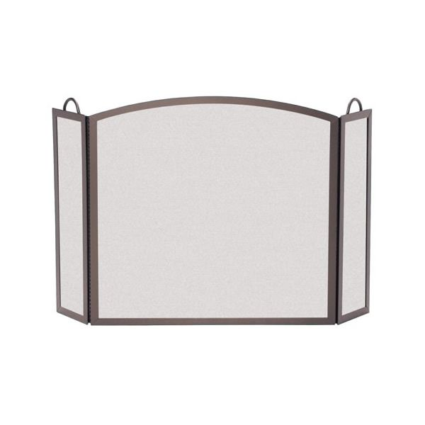 """Full Arch Three Panel Fireplace Screen - 54"""" x 32 1/2"""" image number 0"""