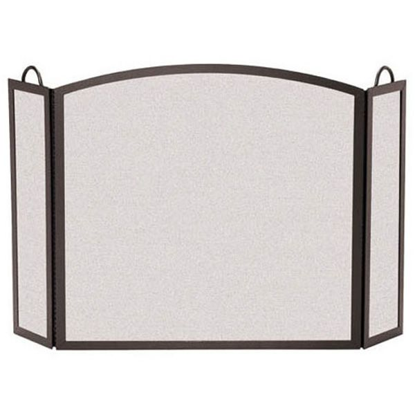 "Full Arch Three Panel Fireplace Screens- 46"" x 29"" image number 0"