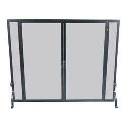"Full Height Fireplace Screen with Doors - 39"" x 31"""