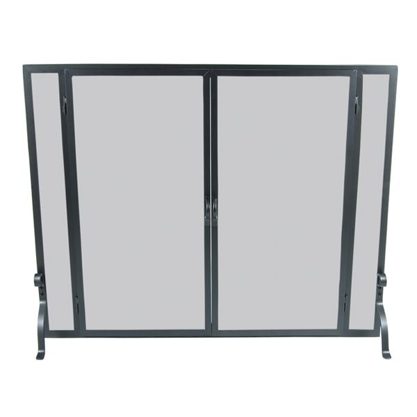 "Full Height Fireplace Screen with Doors - 39"" x 31"" image number 0"