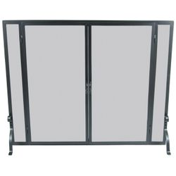 "Full Height Fireplace Screen with Doors - 44"" x 33"""