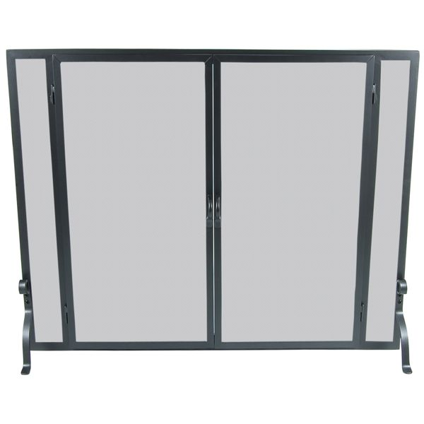 "Full Height Fireplace Screen with Doors - 44"" x 33"" image number 0"
