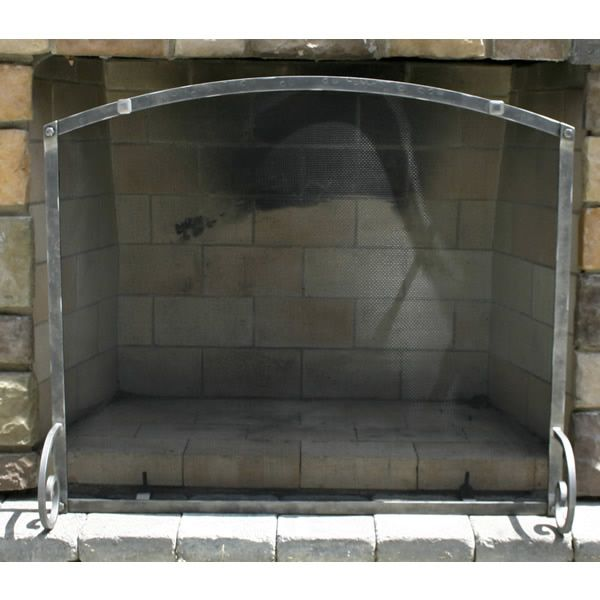 "Fullview Forged Iron Arched Fireplace Screen 38""W x 32""H image number 0"