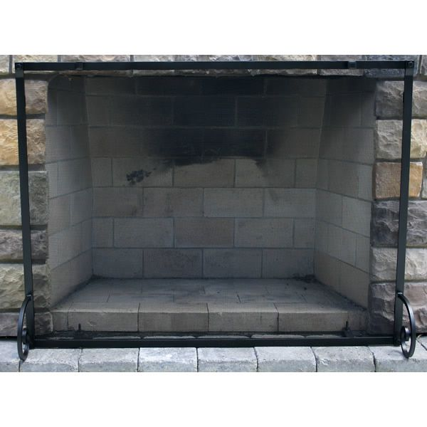 """Fullview Forged Iron Fireplace Screen 38""""W x 32""""H image number 0"""