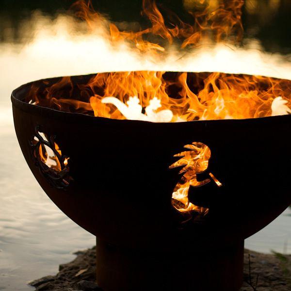 Kokopelli Wood Burning Fire Pit image number 4