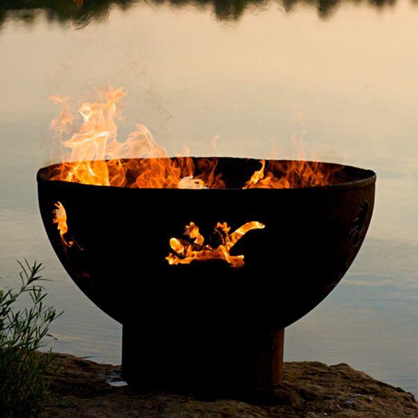 Kokopelli Wood Burning Fire Pit image number 6