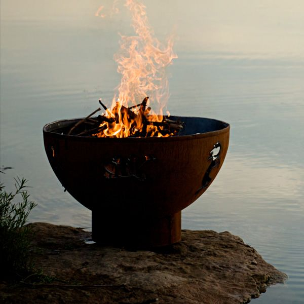 Kokopelli Wood Burning Fire Pit image number 9