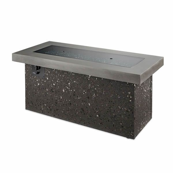 Key Largo Black Linear Gas Fire Pit - Supercast Top image number 4