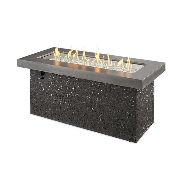 Key Largo Black Linear Gas Fire Pit – Supercast Top image number 0