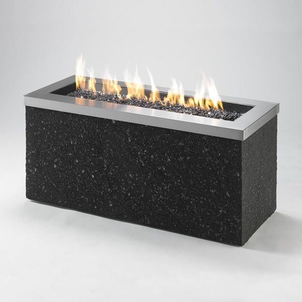 Key Largo Linear Gas Fire Pit - Stainless Steel image number 0