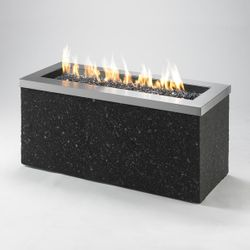 Key Largo Linear Gas Fire Pit - Stainless Steel