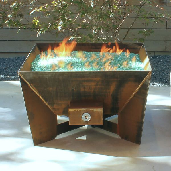 Kenna Fia Steel Gas Fire Pit image number 0