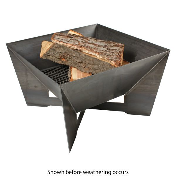 Kenna Fia Steel Wood Burning Fire Pit image number 1