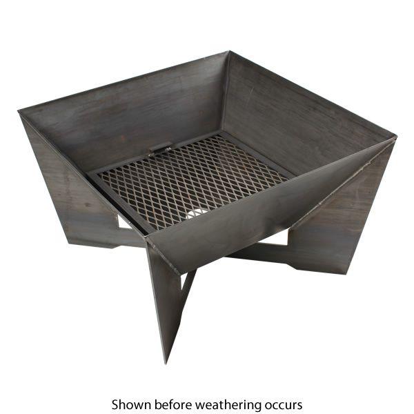 Kenna Fia Steel Wood Burning Fire Pit image number 3