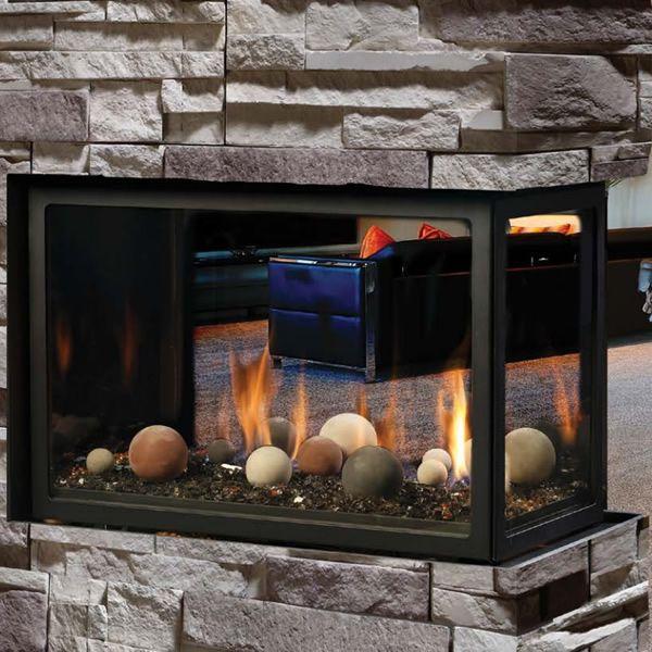 Kingsman MCVP42 Decorative Peninsula Direct Vent Gas Fireplace image number 1