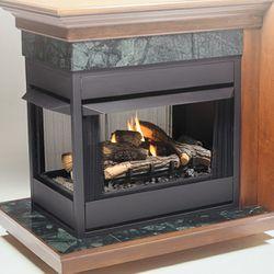 Kingsman MVF40 Peninsula Vent Free Gas Fireplace