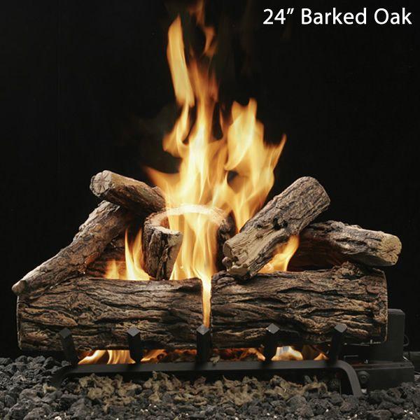 Kingsman Reversible Charred Split/Barked Oak Vented Log Set image number 1