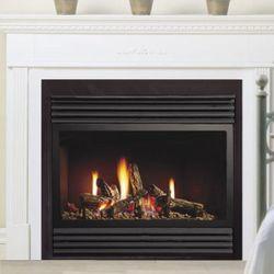 "Kingsman ZDV3318 Zero Clearance Direct Vent Gas Fireplace - 33"""