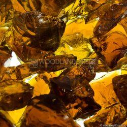 """Krystal Fire - Fire Glass - 1/4""""-1/2"""" Amber Ice"""