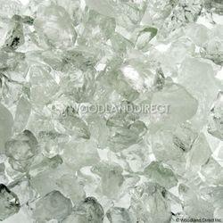 """Krystal Fire - Fire Glass - 1/4""""-1/2"""" Clear Ice"""