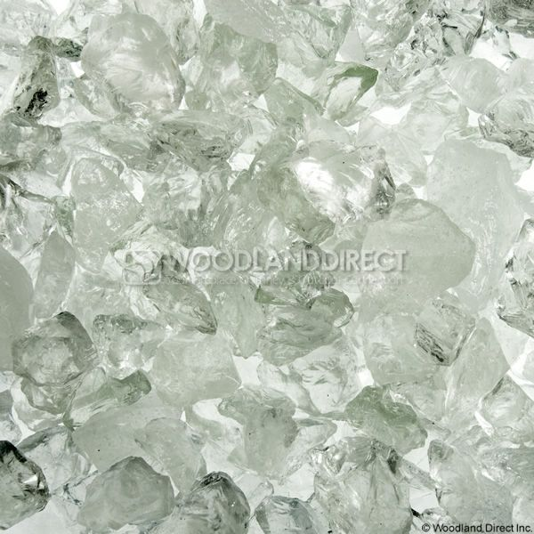 "Krystal Fire 1/4""- 1/2"" Clear Ice Fire Glass image number 0"